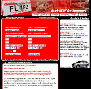 Old Florida Car Hire site