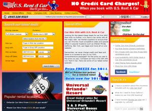 usrentacar homepage 2010
