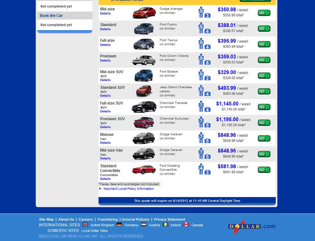 View our vehicle range