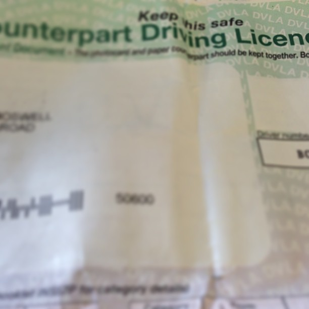 driving licence paper part