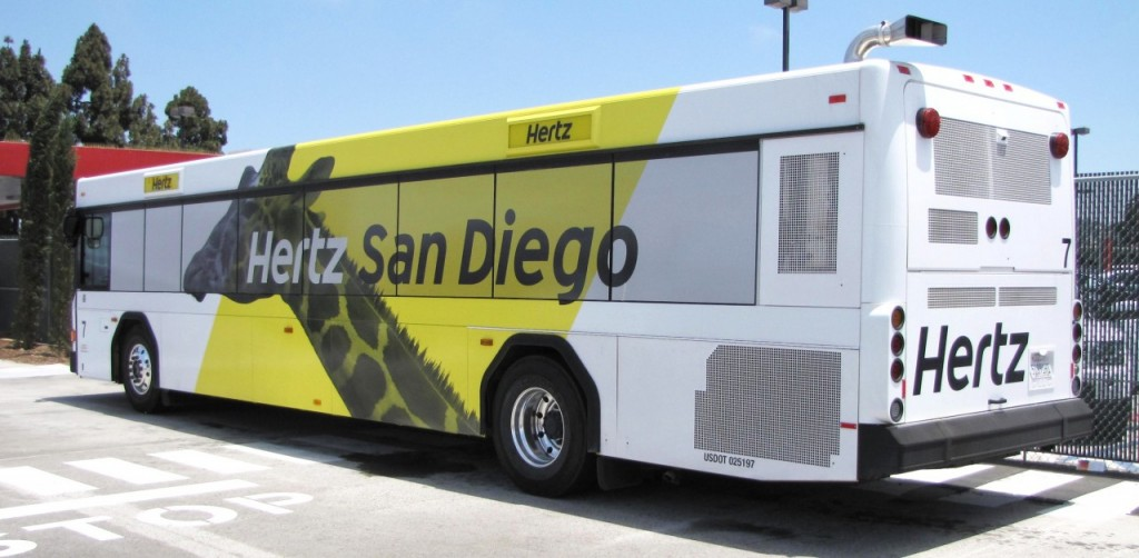 hertz san diego bus