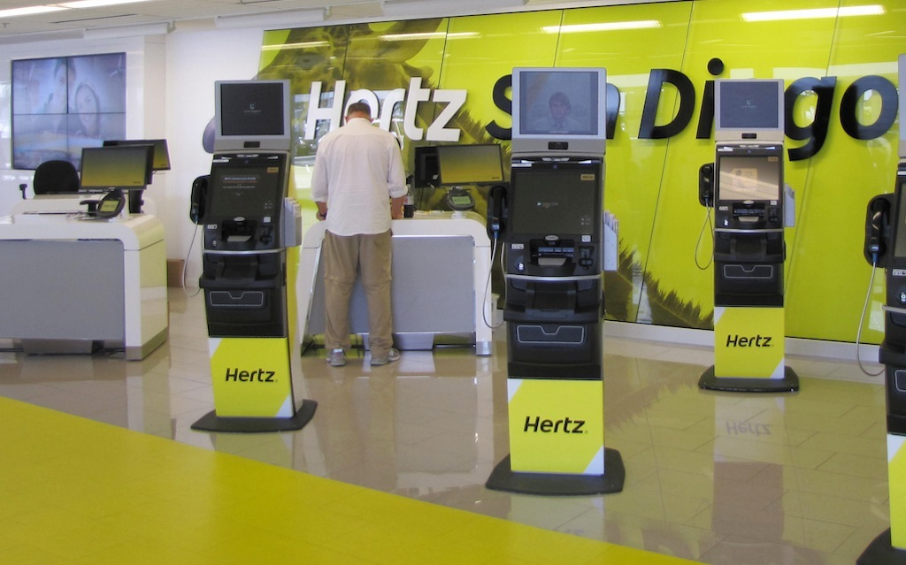 hertz san diego kiosk